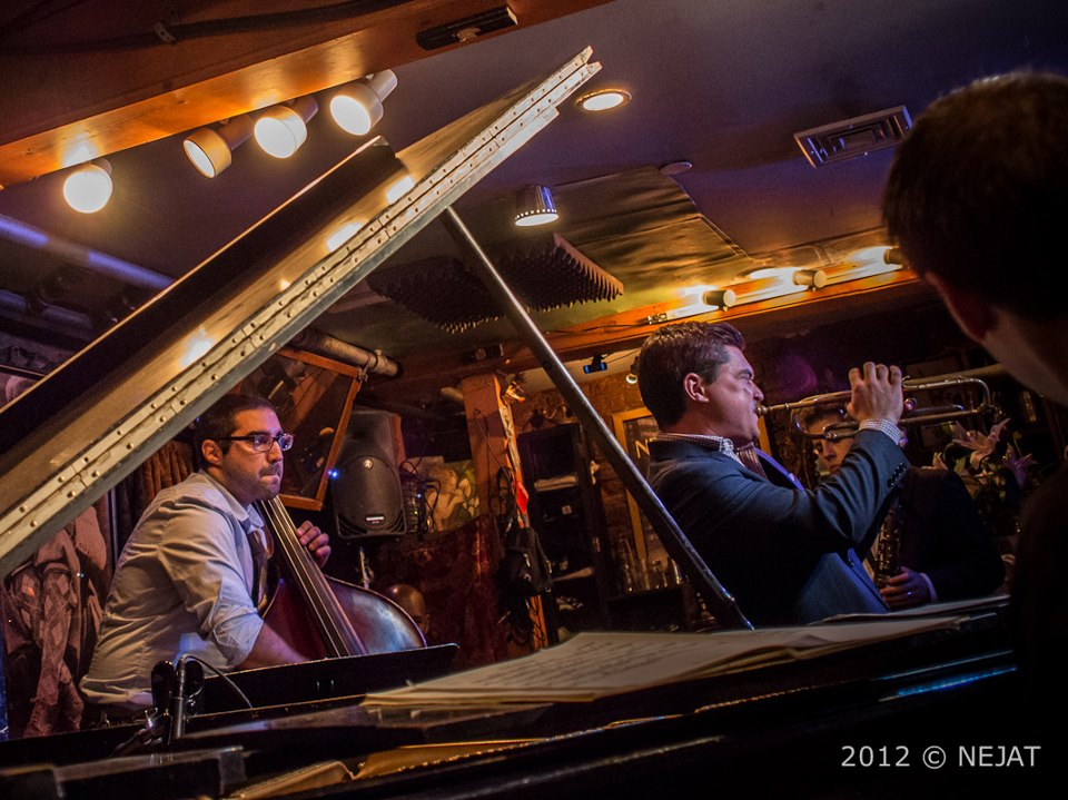 Performing at Smalls Jazz Club in New York. Photo by Nejat Ozu